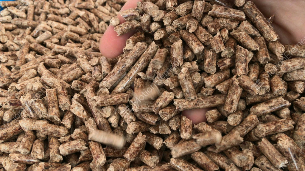 Nature S Earth Pellets ~ Pile of wood pellets stock video footage