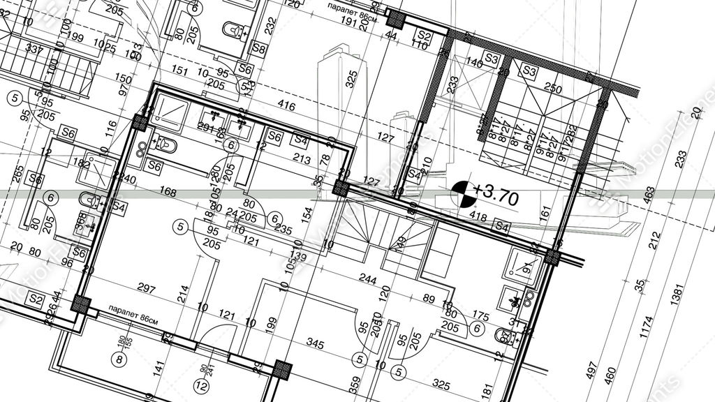 Abstract architecture background blueprint house plan with sketch abstract architecture background blueprint house plan with sketch of city stock animation 10198111 malvernweather Image collections
