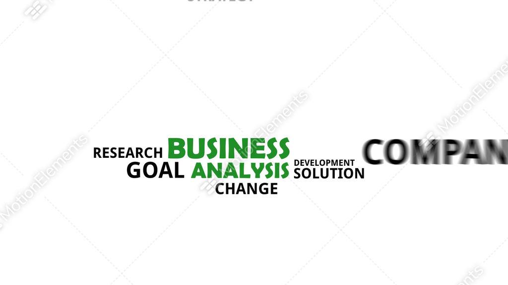 Kinetic Typography Business Analysis Stock Animation