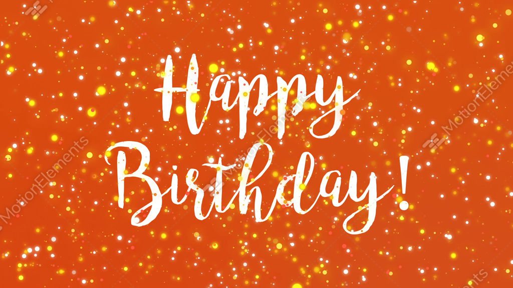 Sparkly orange happy birthday greeting card video stock animation sparkly orange happy birthday greeting card video stock video footage m4hsunfo