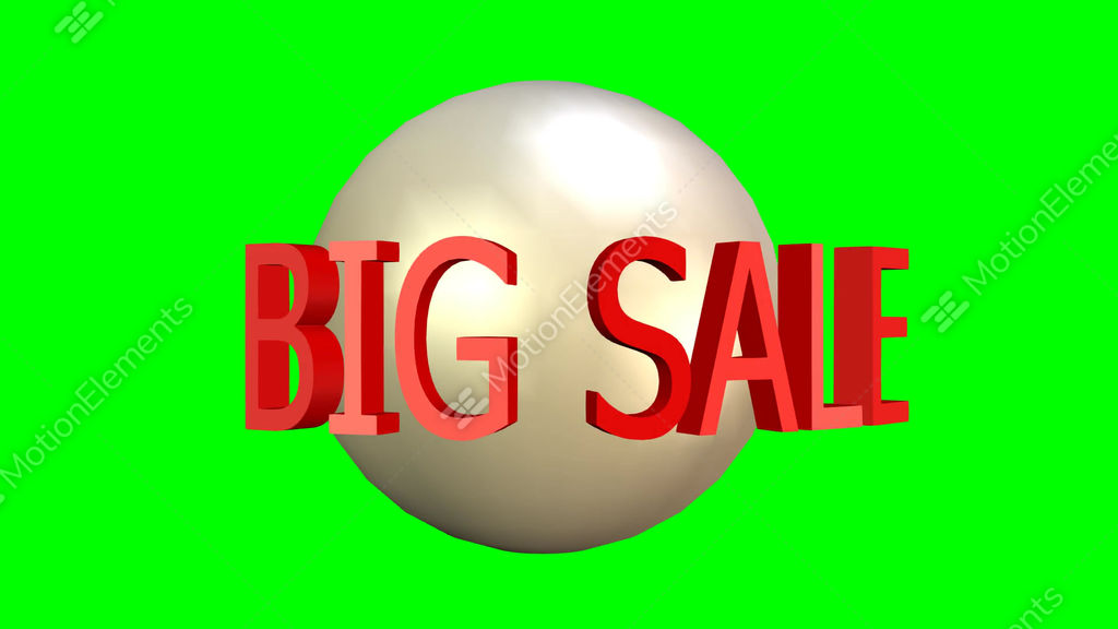 Big Sale Video Advertising Banner Bomb Explosion Rotating Text