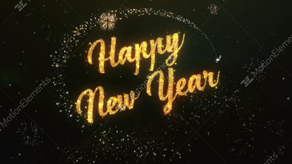 Happy new year greeting text made from sparklers light colorfull happy new year greeting text made from sparklers light stock video footage m4hsunfo