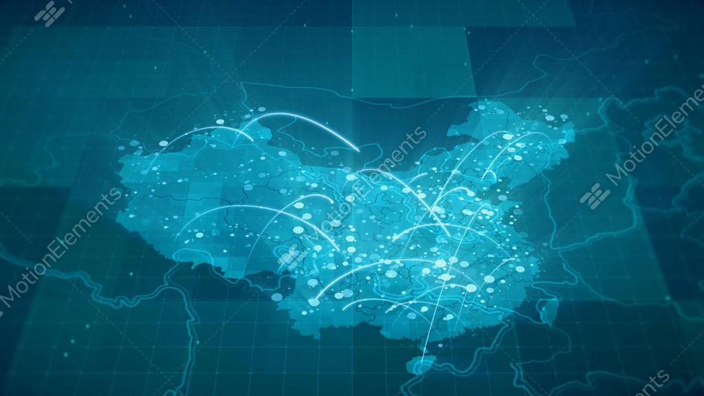 china map globalization 4k stock animation 10687943