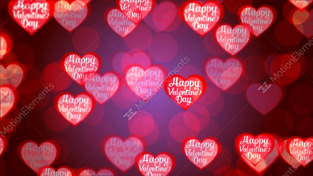 Valentine\'s Day Background, Flying Abstract Hearts And Particles ...