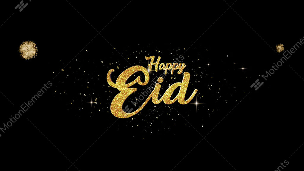 Eid mubarak golden greeting text appearance from blinking particles eid mubarak golden greeting text appearance from blinking stock video footage m4hsunfo