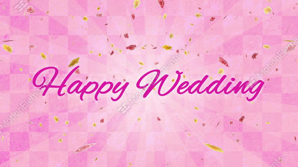 happy wedding background