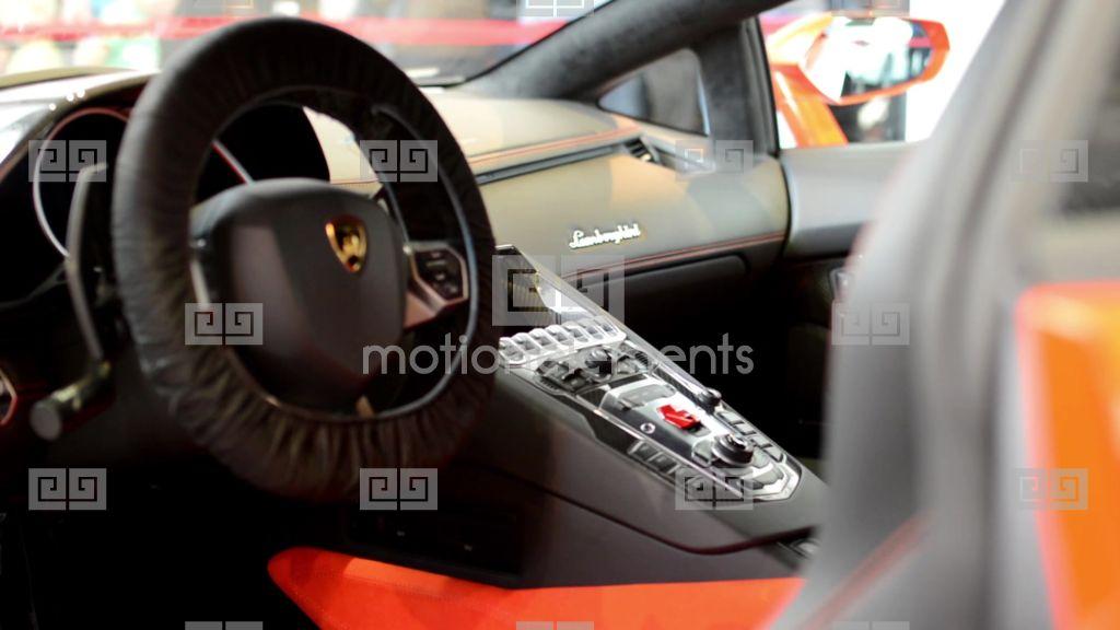 Dashboard And Wheel Gearshift Lever Logo Lamborghini