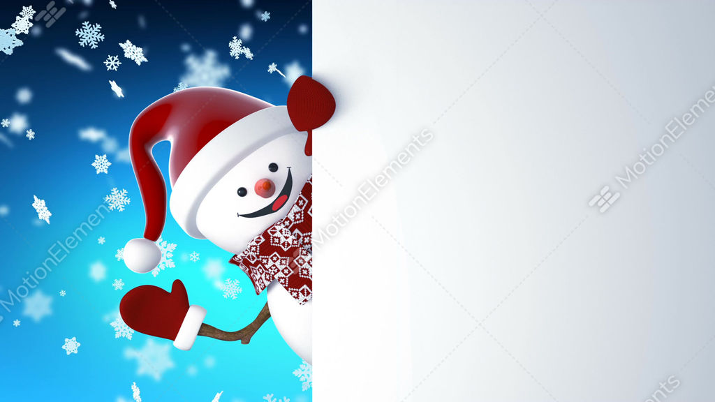 Funny snowman in santa claus cap greeting with hands and smiling funny snowman in santa claus cap greeting with hands and stock video footage m4hsunfo