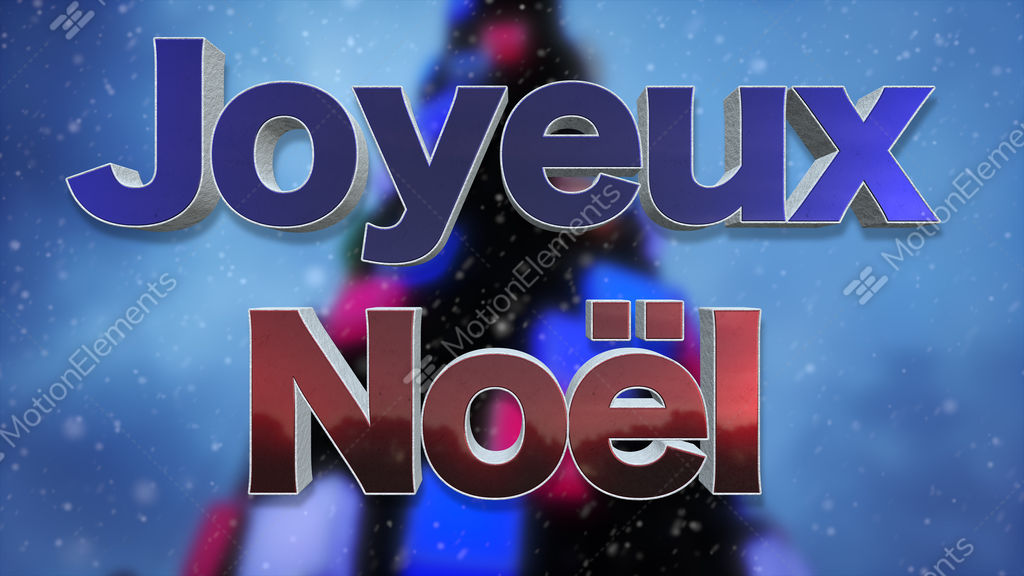 merry christmas french language background loop stock video footage - How To Say Merry Christmas In French