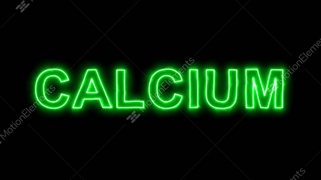 Neon Flickering Green Element Of Periodic Table Calcium In The Haze