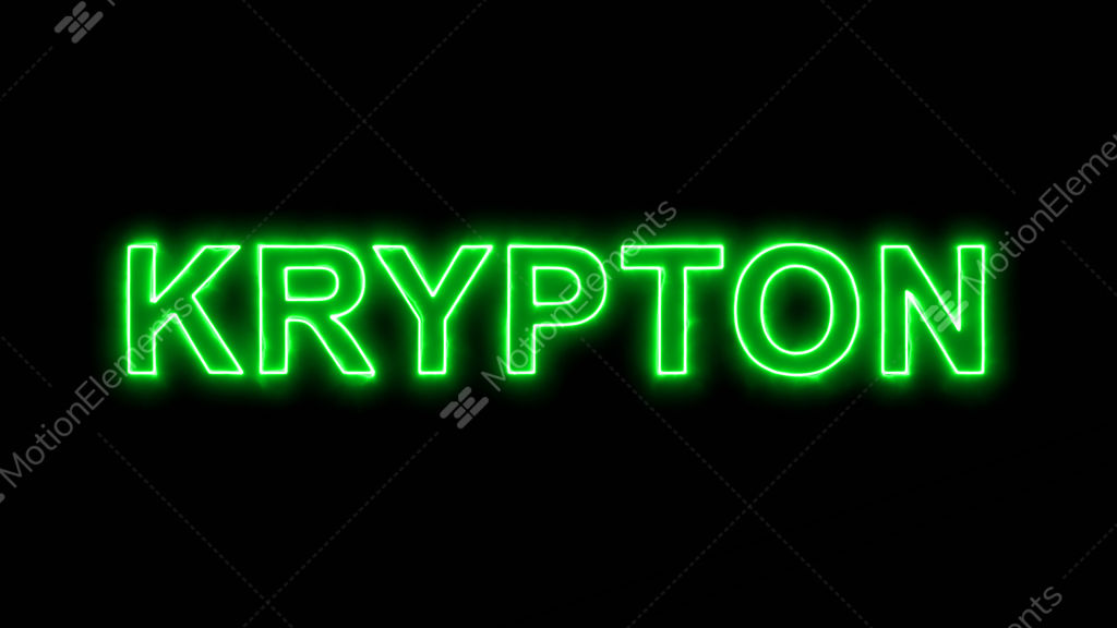 neon flickering green element of periodic table krypton stock video footage - Periodic Table Neon