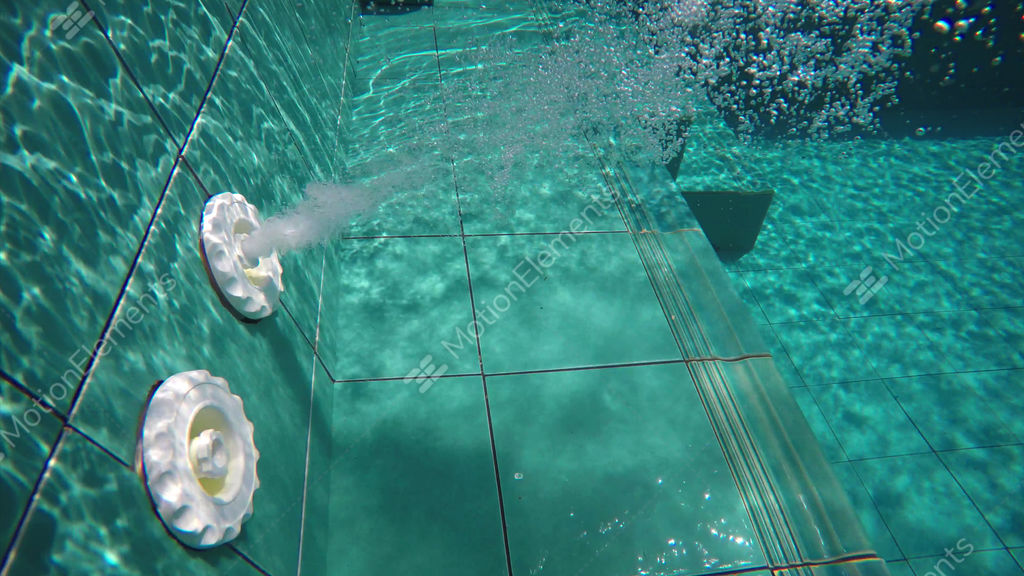 Underwater Perspective Of Water Jets In A Swimming Pool Stock video ...