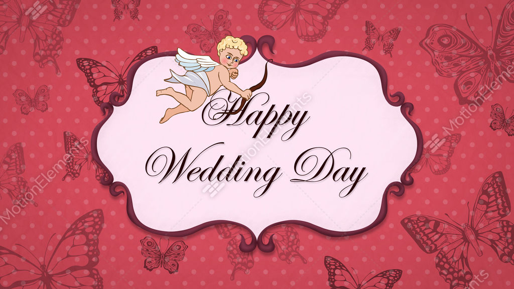 Happy wedding day vintage greeting card with cupid stock animation happy wedding day vintage greeting card with cupid stock video footage m4hsunfo
