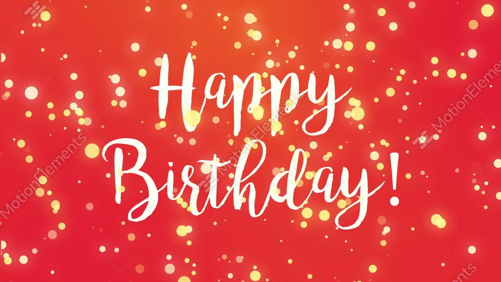 Red Happy Birthday Greeting Card Video Stock Animation 11330680