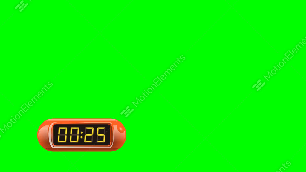 30 second digital countdown timer counter left red isolated