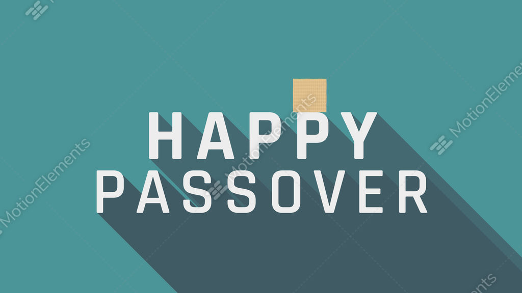 Passover holiday greeting animation with matzah icon and english passover holiday greeting animation with matzah icon and stock video footage m4hsunfo