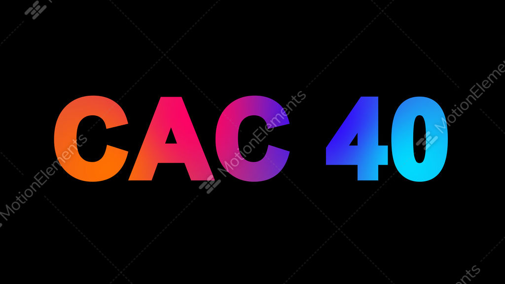 World Stock Index CAC 40 Multi Colored Appear Then Video Footage
