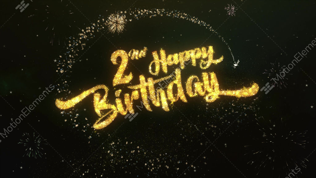 2nd Happy Birthday Greeting And Wishes Made From Stock Video Footage