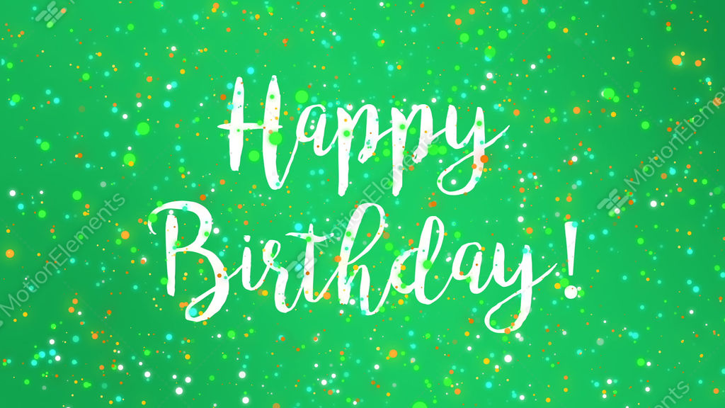 Sparkly Green Happy Birthday Greeting Card Video Stock Footage