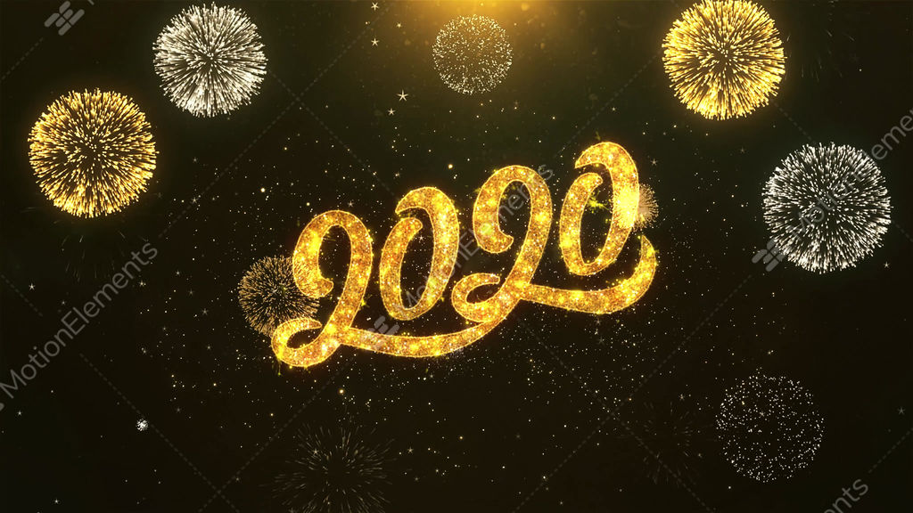 Happy new year 2020 celebration wishes greeting text on golden happy new year 2020 celebration wishes greeting text on stock video m4hsunfo
