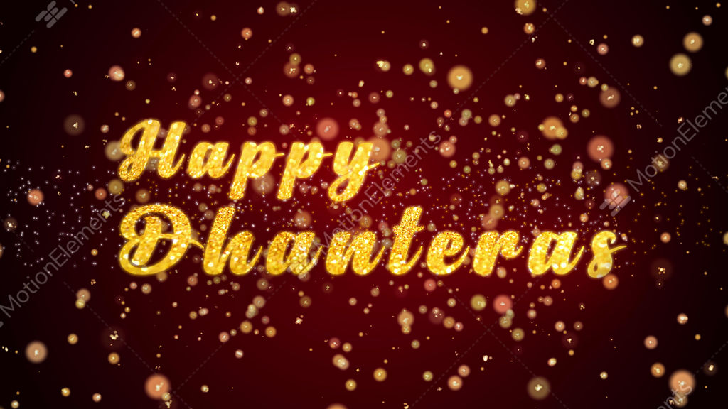 Happy dhanteras greeting card text shiny particles for celebration happy dhanteras greeting card text shiny particles for stock video footage m4hsunfo
