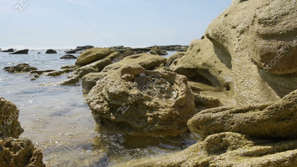 River to Sea Preserve, Marineland, rock formations in... Stock Video Footage