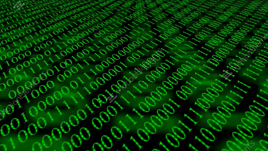 Binary Code Screen Data Code Stock Video Footage 12002851
