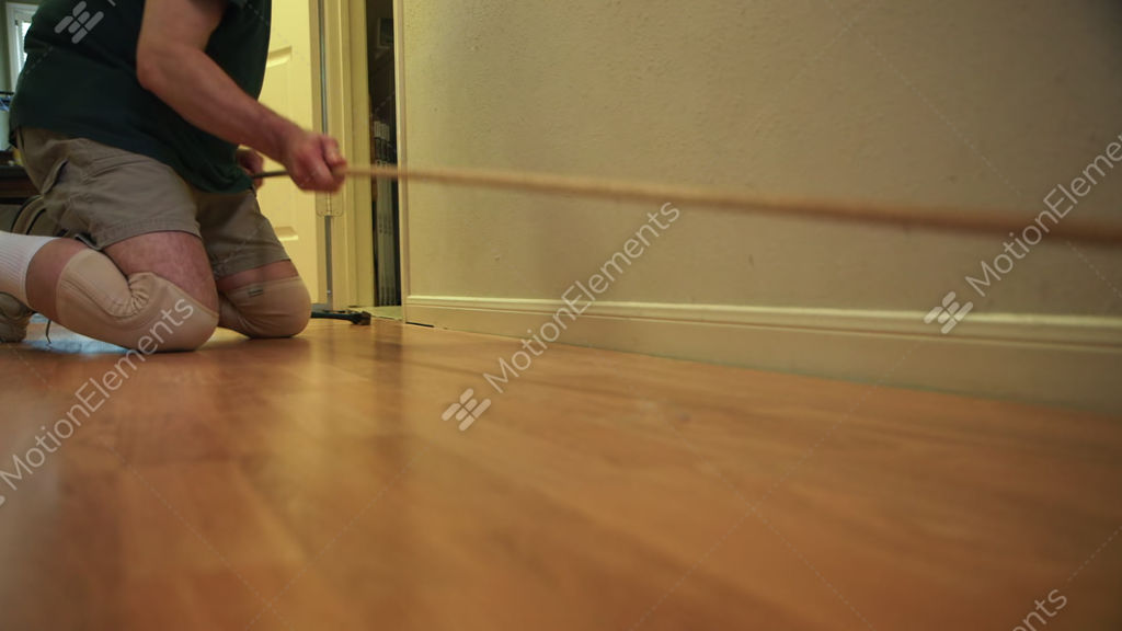 Ripping Out Shoe Molding For Laminate Floor Removal Stock Video