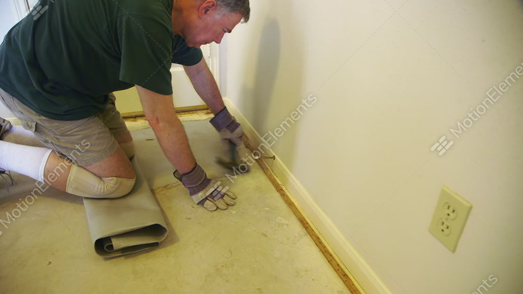 Removing Carpet Tack Strips To Prepare For New Floor Cover Stock