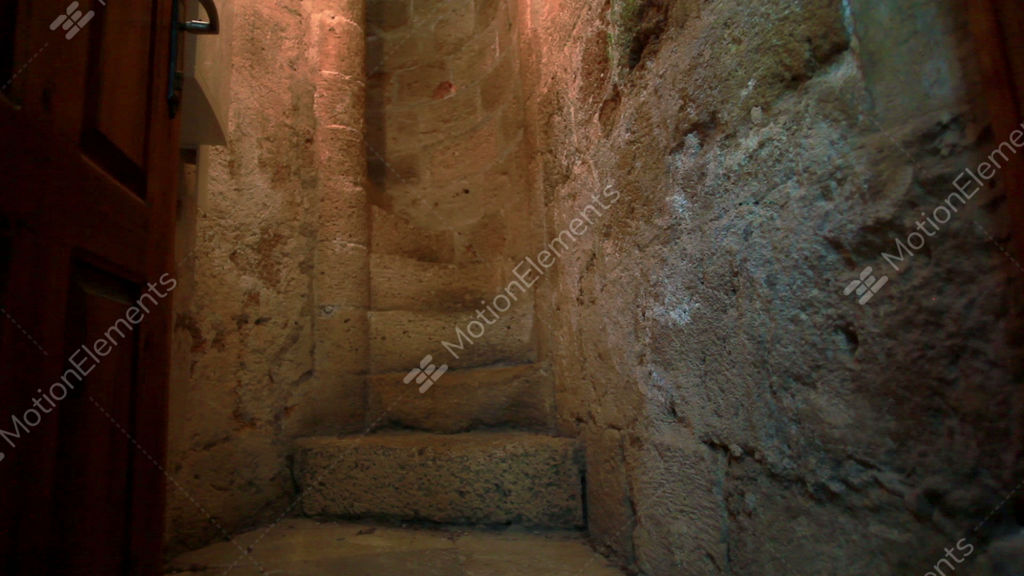Stock Footage Of A Narrow Stone Spiral Staircase In Israel Stock Video  Footage