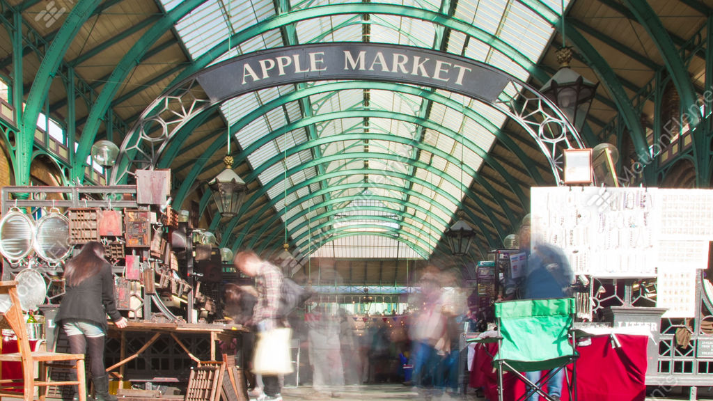 Covent Garden Time-lapse In London. Cropped Stock video footage ...
