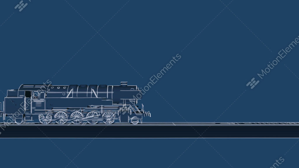 Retro steam train blueprint cartoon animation stock animation 9280735 retro steam train blueprint cartoon animation stock video footage malvernweather Images