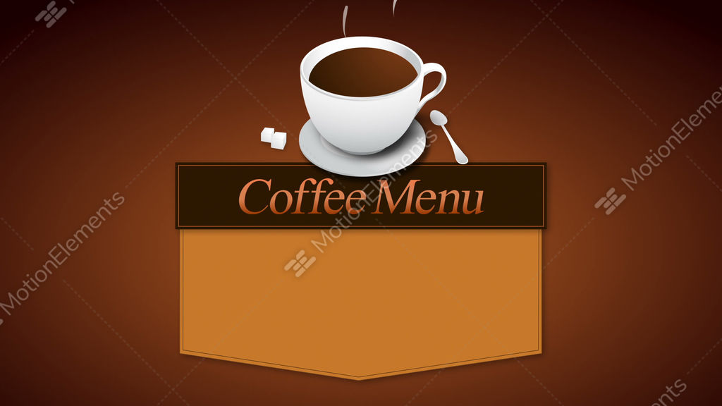 Coffee Menu Board AnimationIncluded Alpha Stock Animation