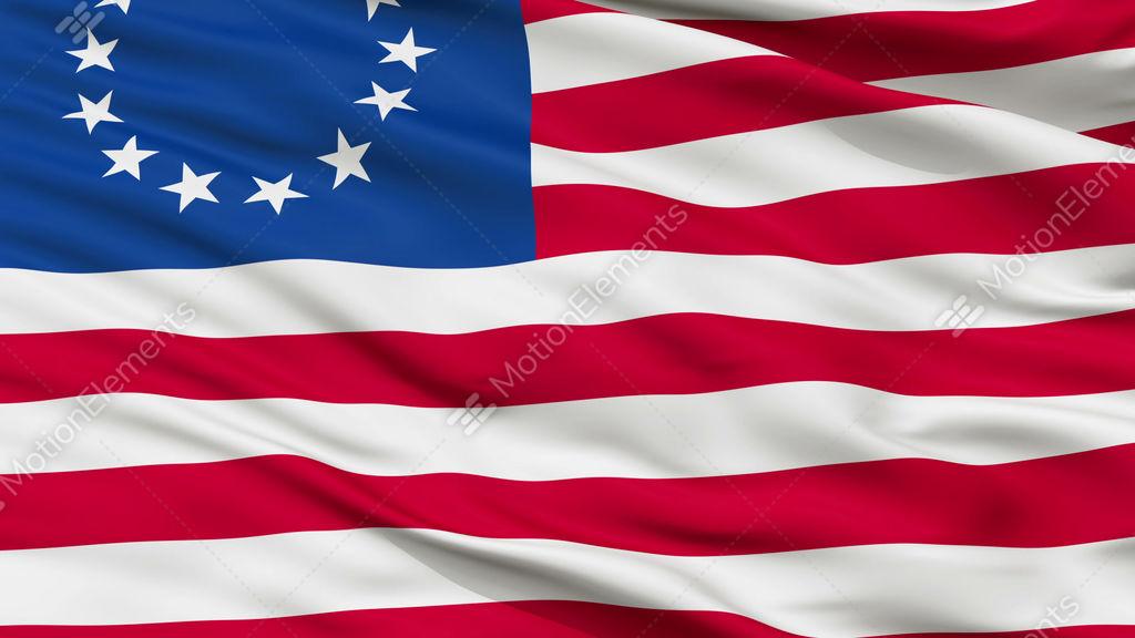 13 Stars Betsy Ross Usa Close Up Waving Flag Stock Animation 9368425