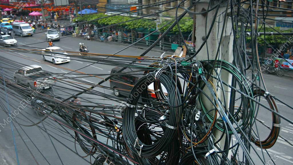 bangkok thailand circa feb 2015 typical messy spaghetti like rh motionelements com
