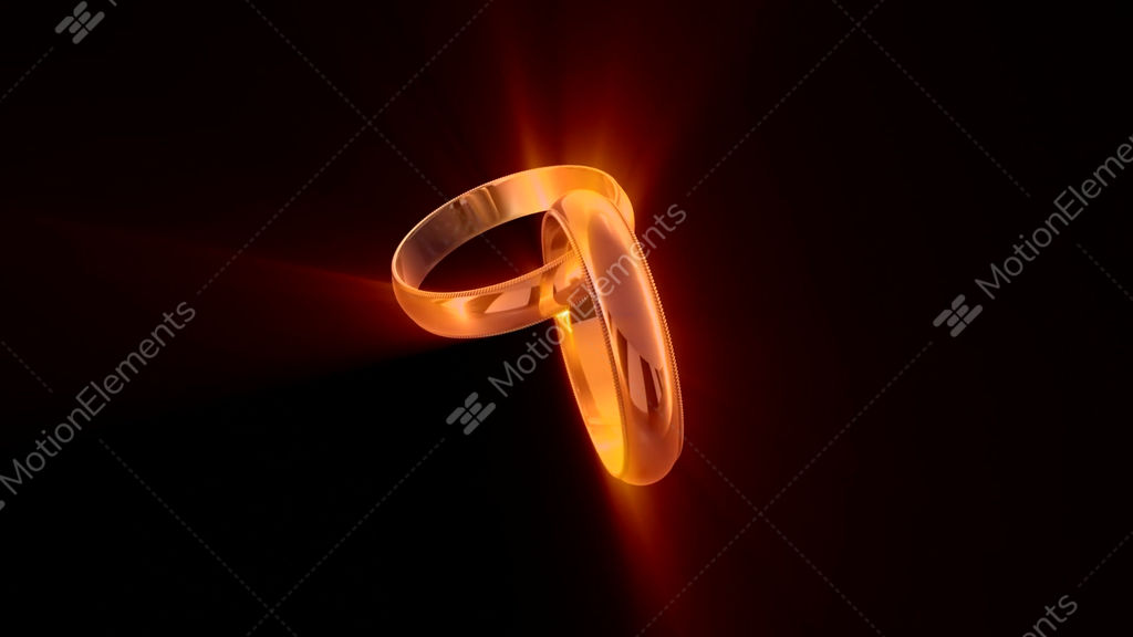 Wedding Rings Symbol Of Eternal Love Stock Animation 9421260