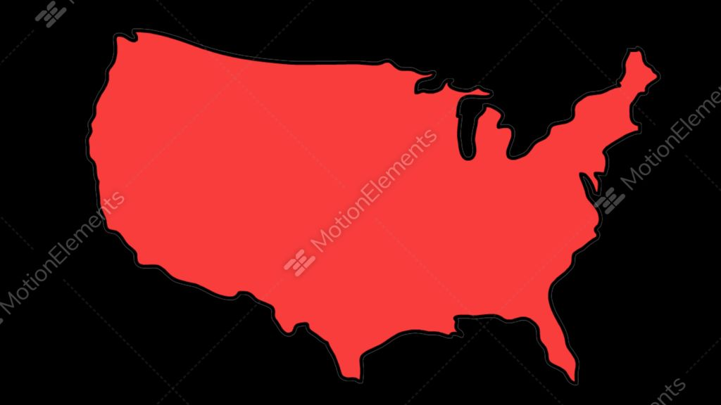 USA Map Sketch Illustration Hand Drawn Animation Transparent Stock - Sketch drawing us map