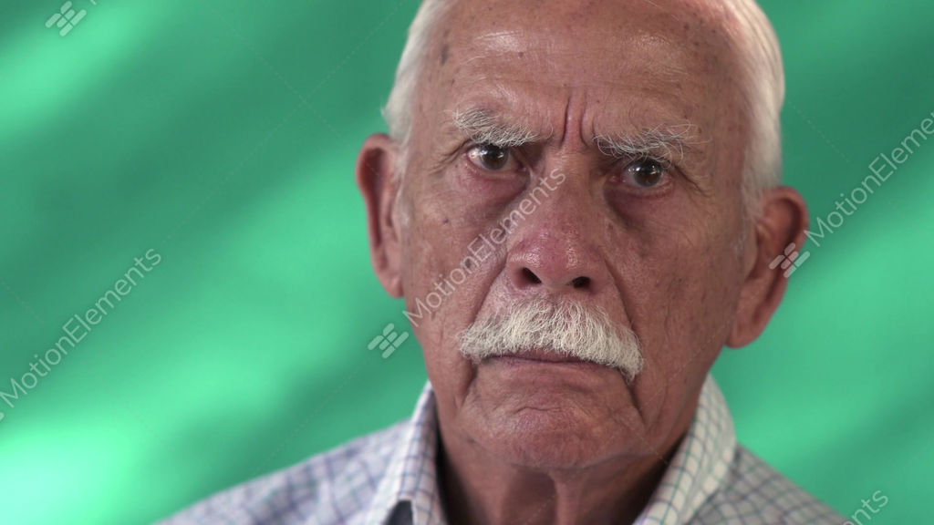 Image of: Room 15 People Portrait Sad Senior Hispanic Man Old Person Face Stock Video Footage Motionelements 15 People Portrait Sad Senior Hispanic Man Old Person Face Stock