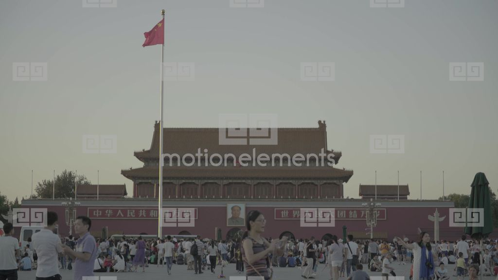 The Symbol Of The City Of Beijing Tiananmen Square Stock Video