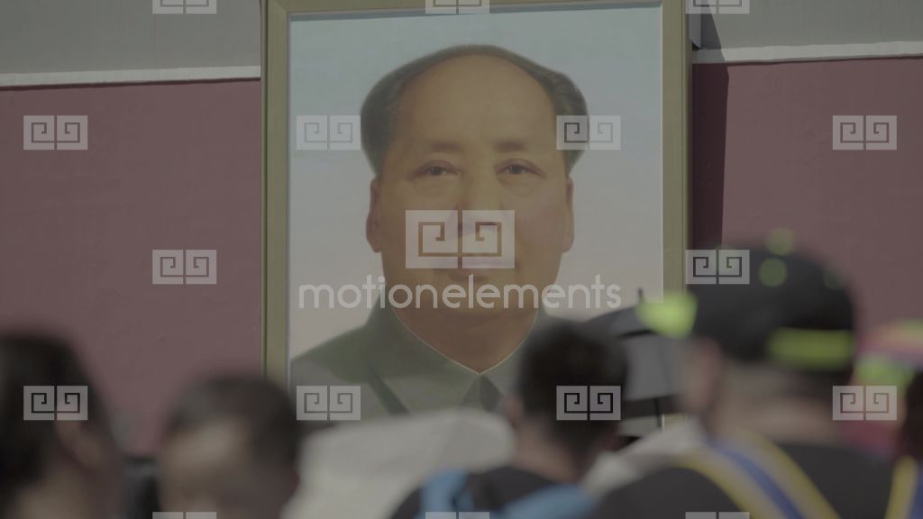 The Portrait Of Mao Zedong Beijing The Symbol Of China Stock Video