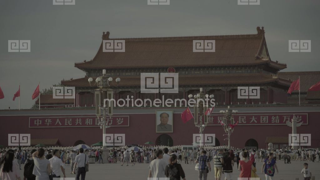The Symbol Of China Tiananmen Beijing China Stock Video Footage