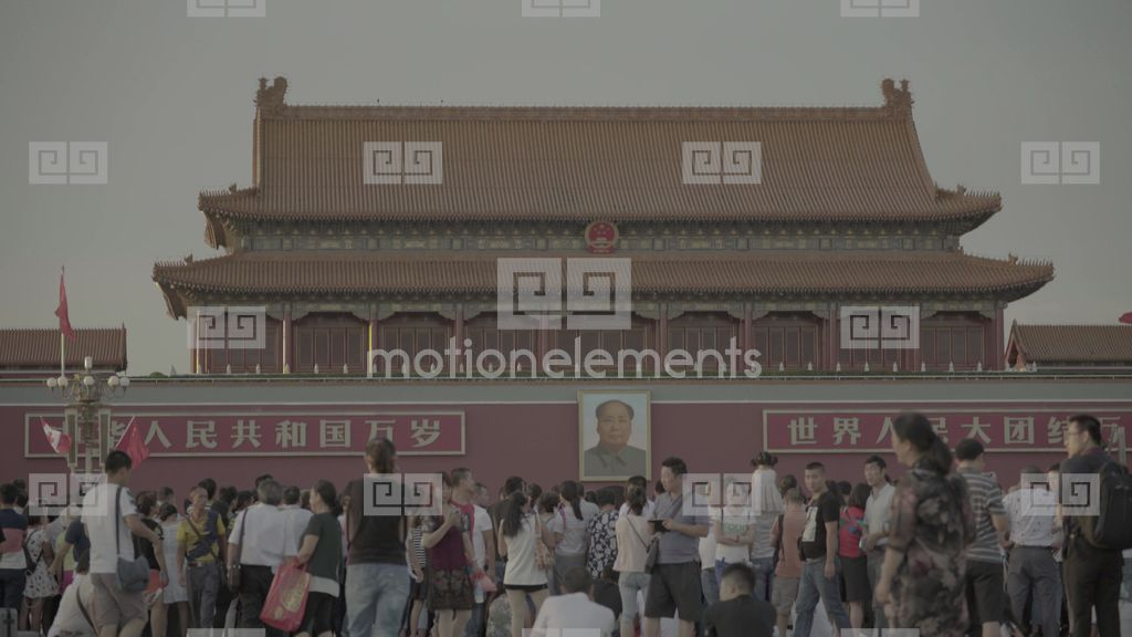 Tiananmen Square Beijing The Symbol Of China Stock Video Footage
