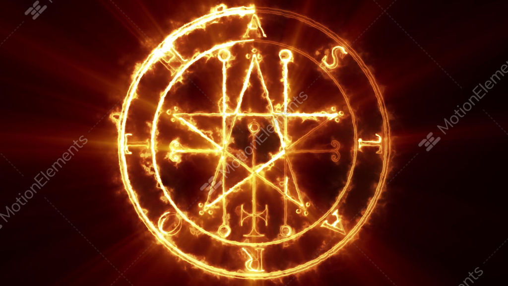 Astaroth Occult Symbol Loop Stock Animation 9509505