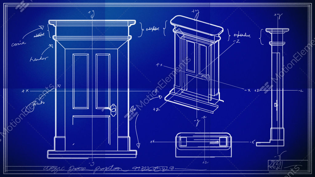 Door technical drawing blueprint time lapse stock animation 1576060 door technical drawing blueprint time lapse stock video footage malvernweather Images