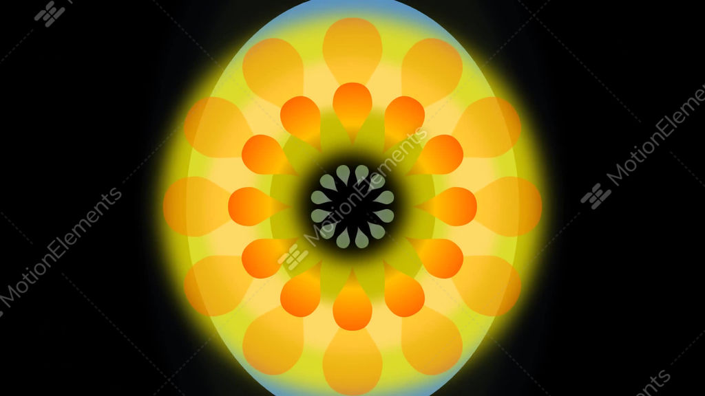 Movie of abstract dancing flower with blurry circle yellow and movie of abstract dancing flower with blurry circle stock video footage mightylinksfo