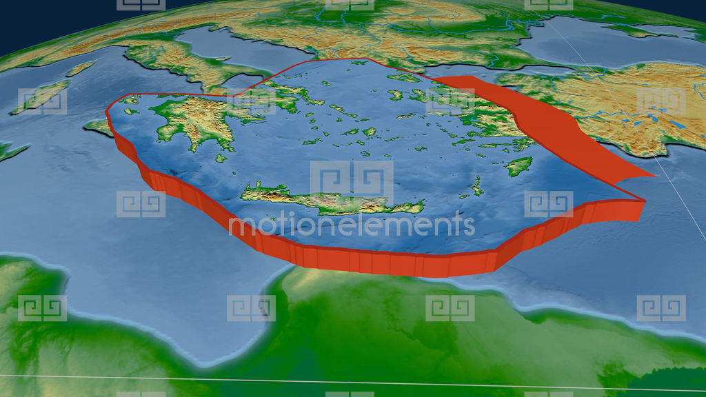 Aegean Sea Tectonic Plate Physical Stock Animation 9722594