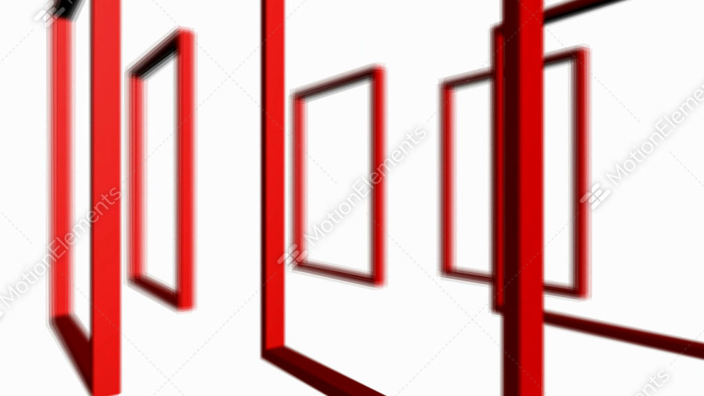 Rotation Of 3D Matrix Frame Container,door,windows,design,decoration ...
