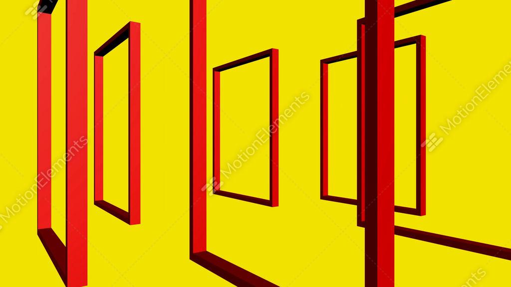 Rotation Of 3D Matrix Frame Stock Animation   1775589