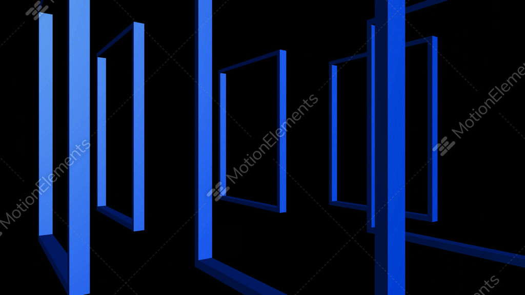 Rotation Of 3D Matrix Frame Stock Animation | 1776341