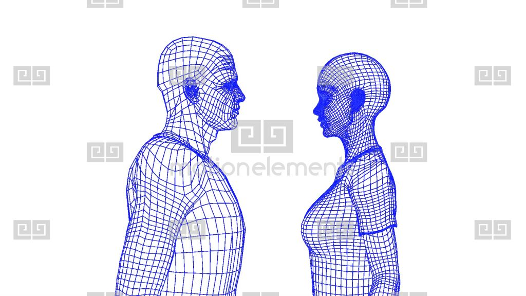 Wire Frame Couple Stock Animation | Royalty-Free Stock Animation ...